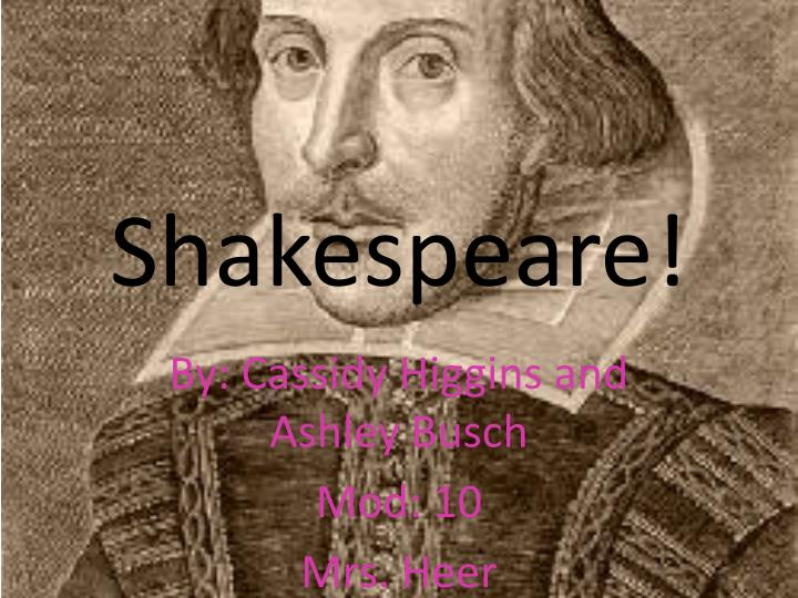 ba thesis shakespeare In many of william shakespeare's plays shakespeare uses desdemona and lady macbeth as important plot devices and to experiment with thesis department.