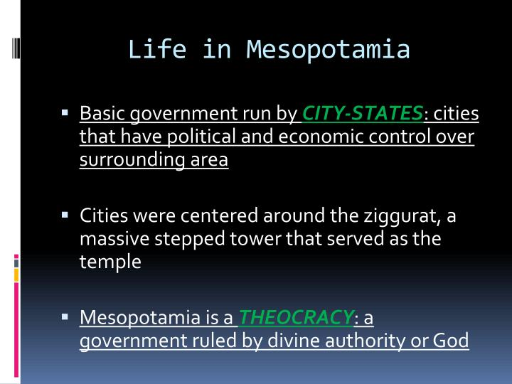Life in Mesopotamia