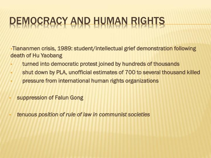 Tiananmen crisis, 1989: student/intellectual grief demonstration following death of
