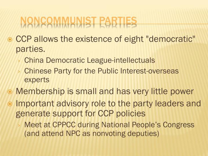 Noncommunist parties