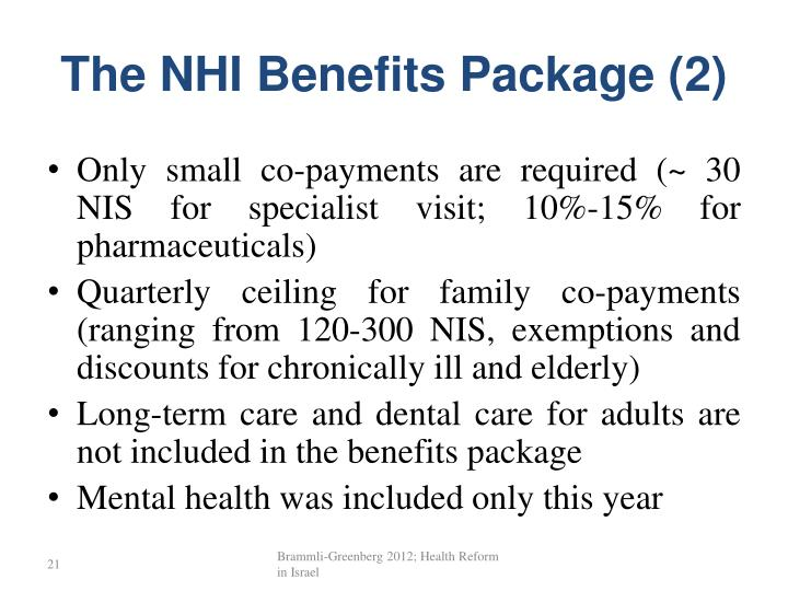 The NHI Benefits Package (2)