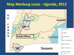 map marburg cases uganda 2012
