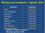 marburg case symptoms uganda 2012