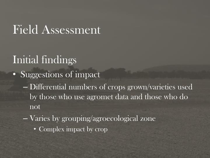 Field Assessment
