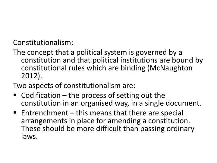Constitutionalism: