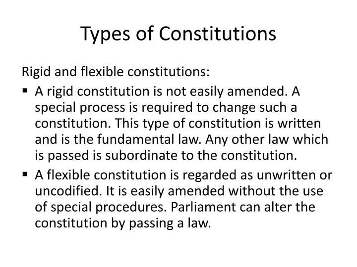 Types of Constitutions