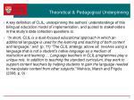 theoretical pedagogical underpinning
