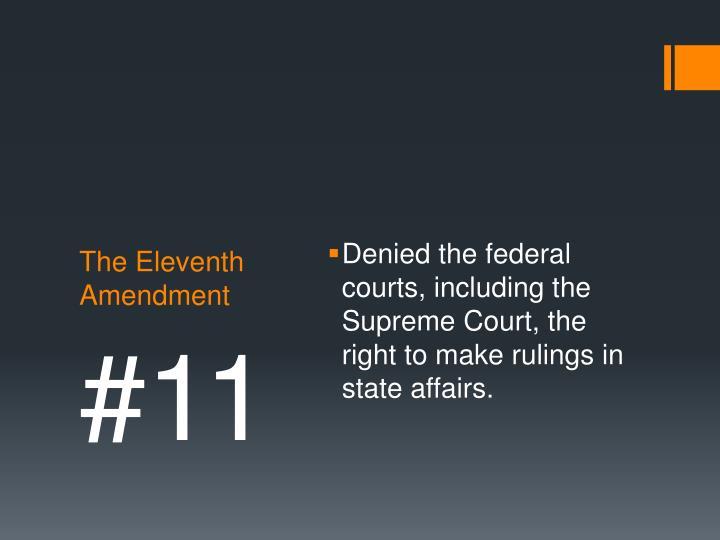 The eleventh amendment
