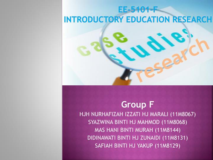 ee 5101 f introductory education research