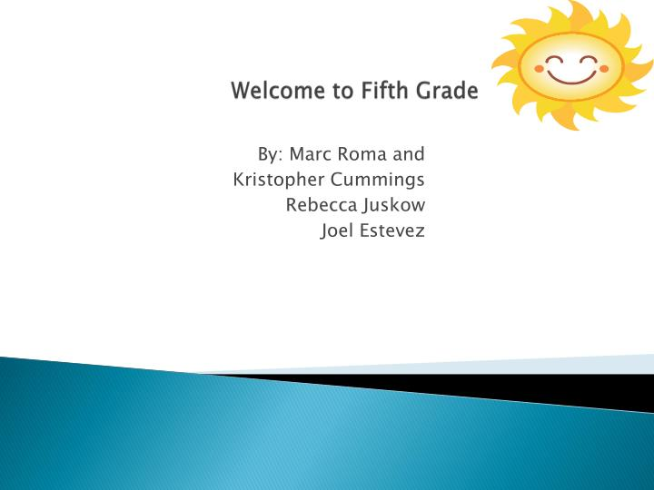 welcome to fifth grade n.
