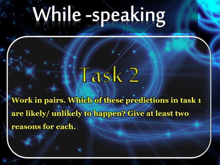 While -speaking