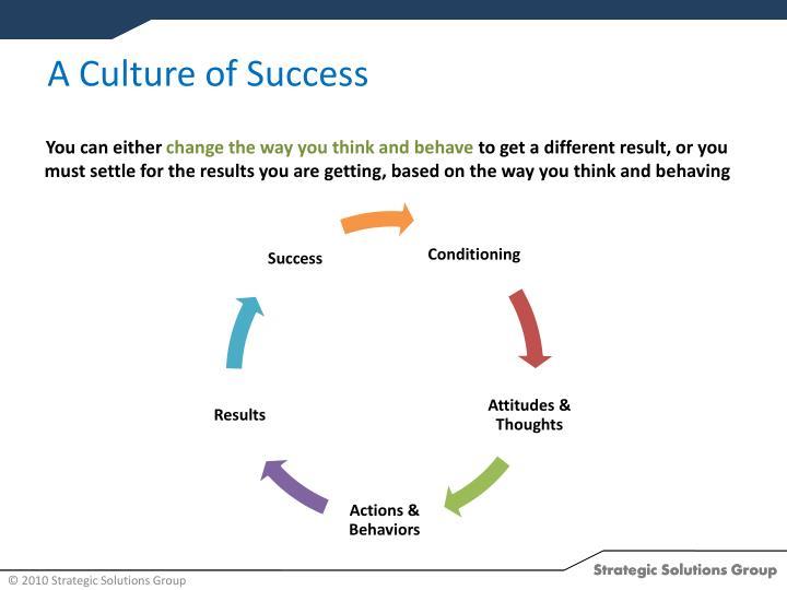 A Culture of Success