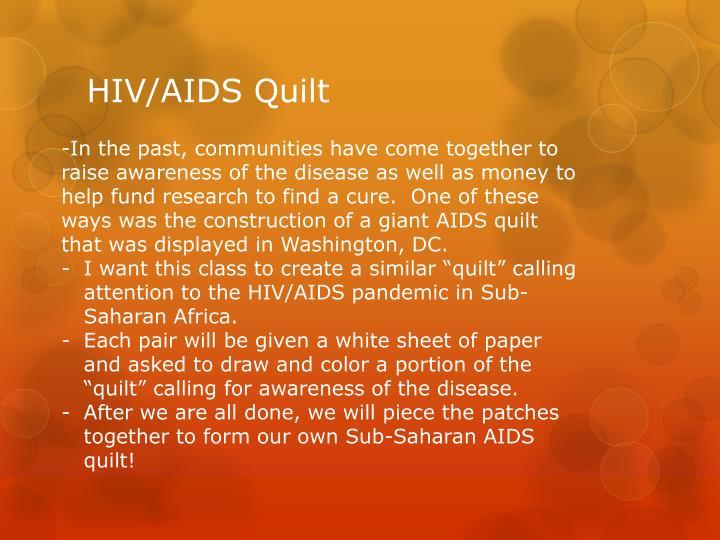 HIV/AIDS Quilt