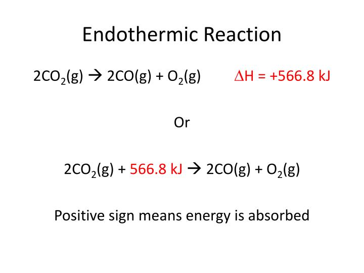 Endothermic Reaction