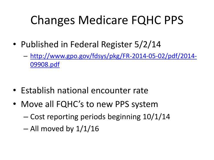 Changes medicare fqhc pps
