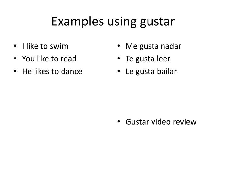 Examples using