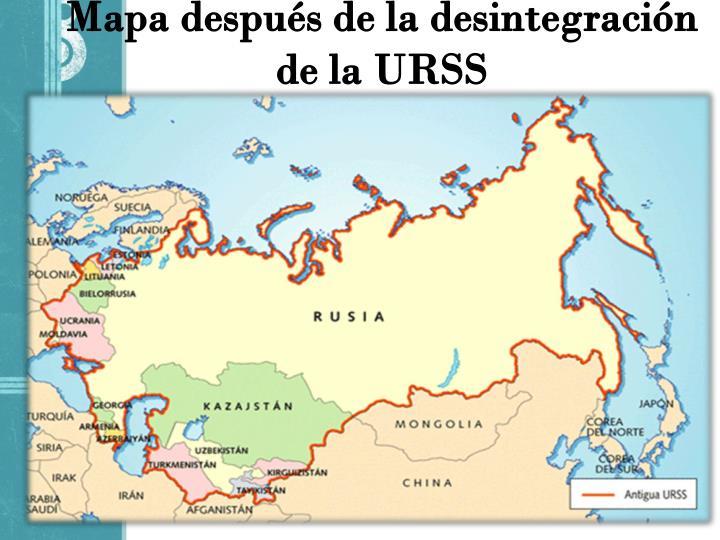 Mapa después de la desintegración de la URSS