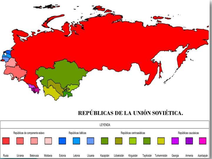 REPÚBLICAS DE LA UNIÓN SOVIÉTICA.