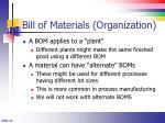 bill of materials organization