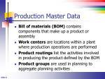 production master data