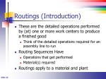 routings introduction