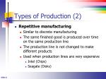 types of production 2