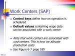 work centers sap1