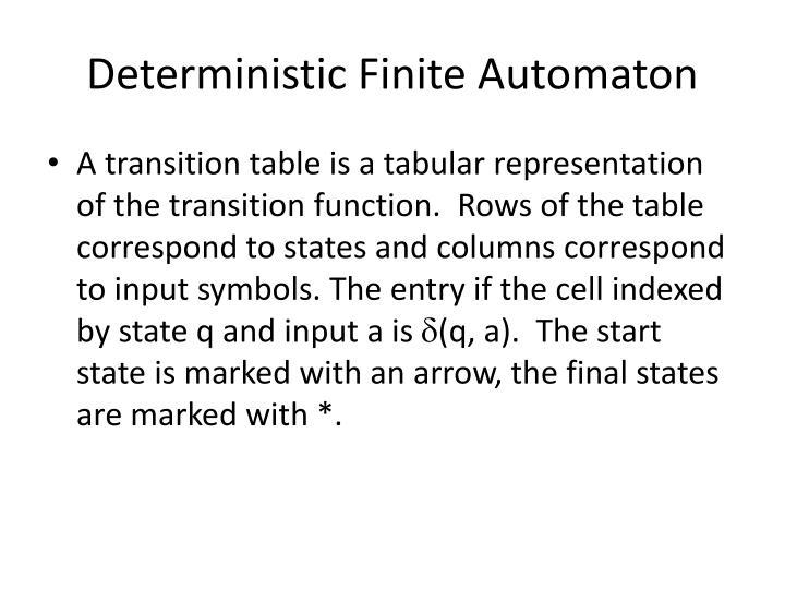 Deterministic finite automaton2