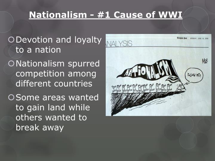 Nationalism - #1 Cause of WWI