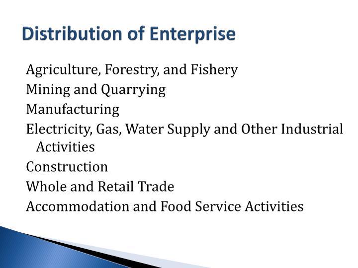 Distribution of Enterprise