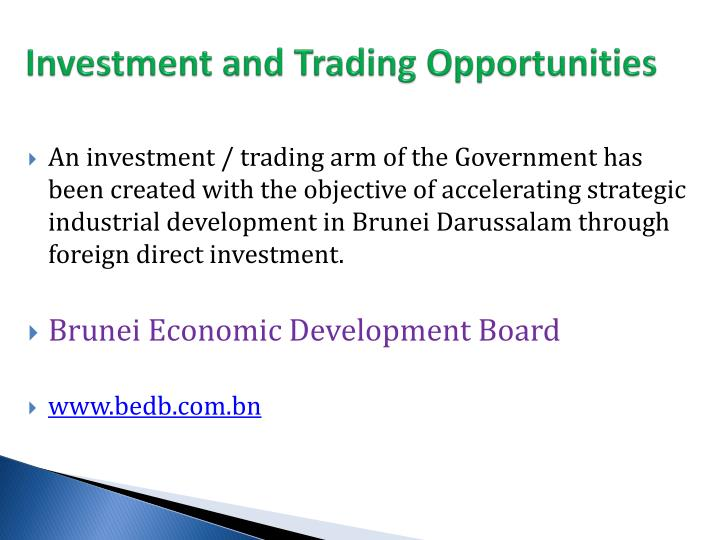 Investment and Trading Opportunities
