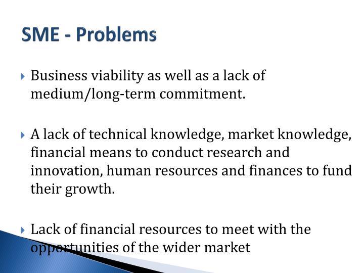 SME - Problems