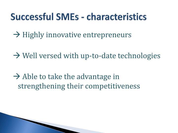 Successful SMEs - characteristics