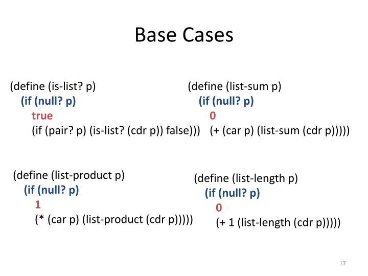Base Cases