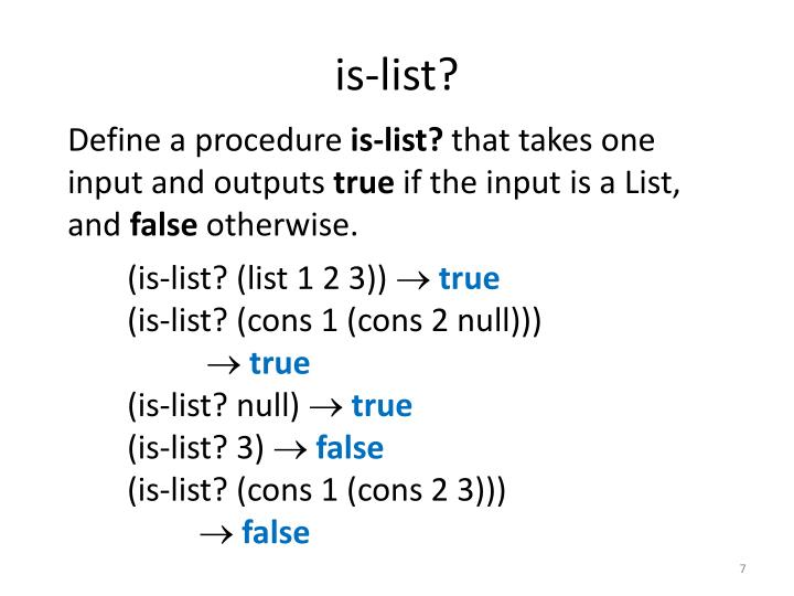 is-list?