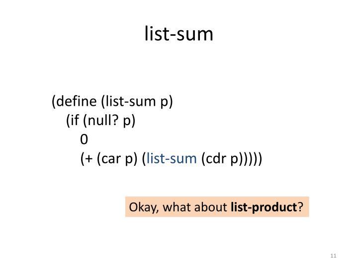 list-sum