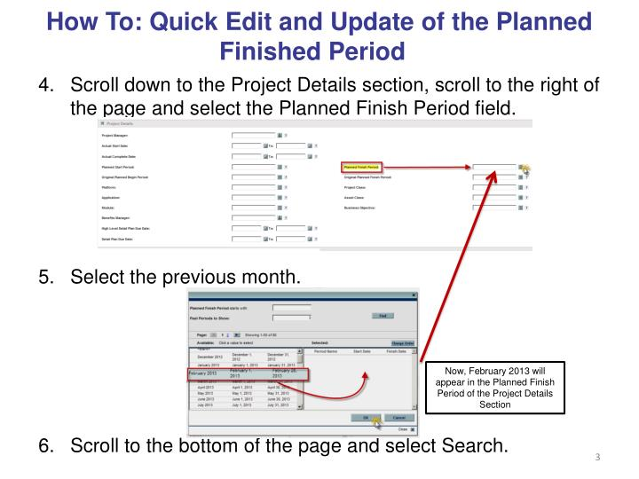 How to quick edit and update of the planned finished period1