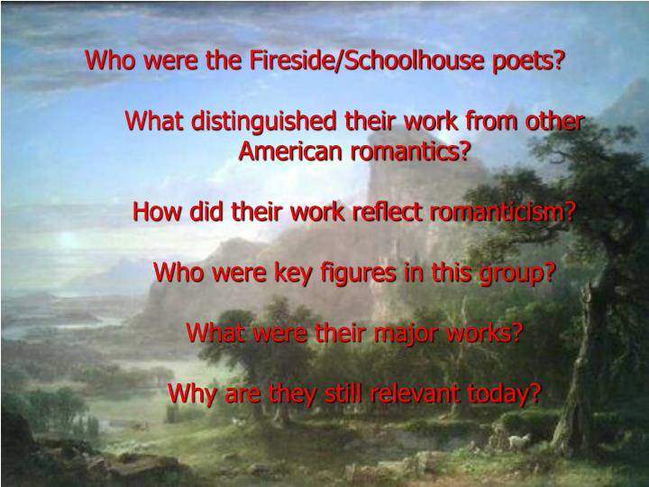 3 05 fireside poets assignment The fireside poets: henry wadsworth longfellow 19 quiz 3: the voices of despair 8 indicates alternative assignment  title: american literature author:.