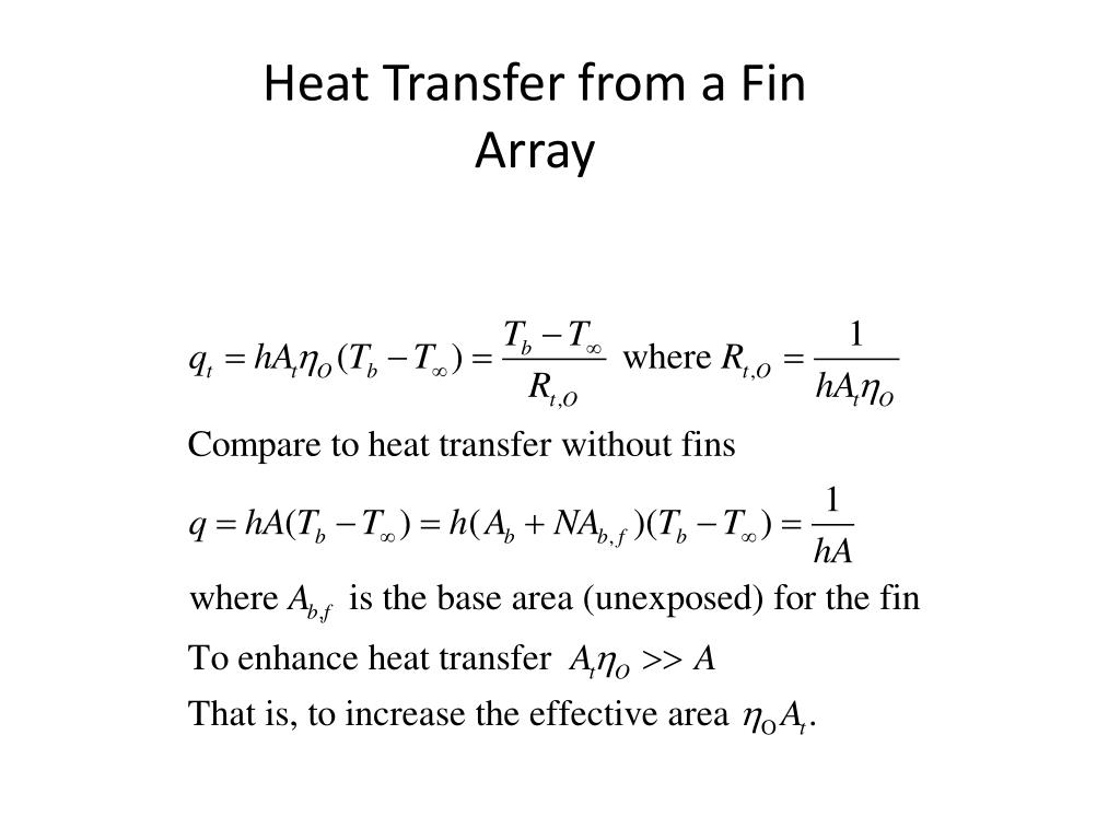 PPT - Chapter 4: Heat Transfer from Extended Surfaces