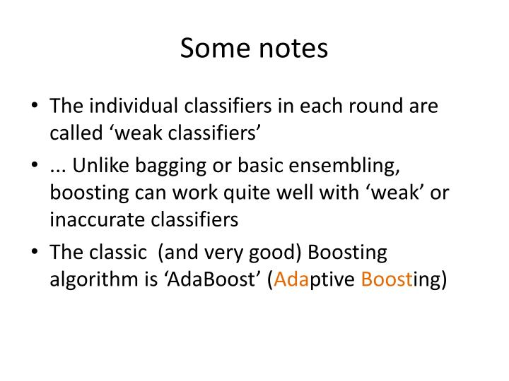 Some notes