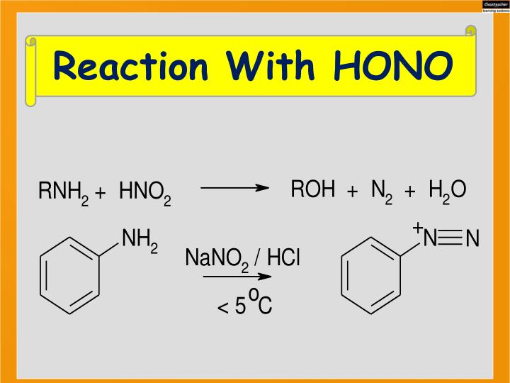 Reaction With HONO