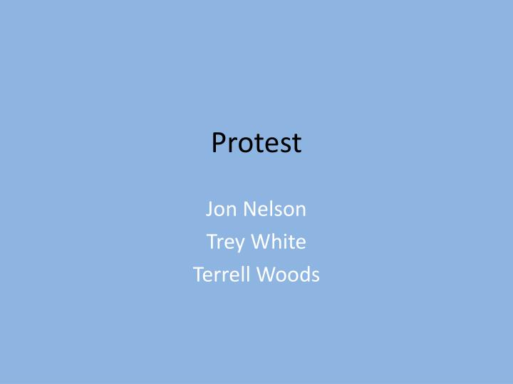 protest n.