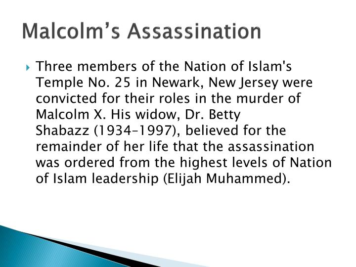 Malcolm's Assassination