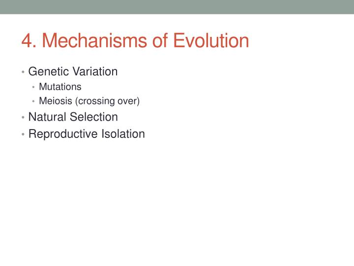 4. Mechanisms of Evolution