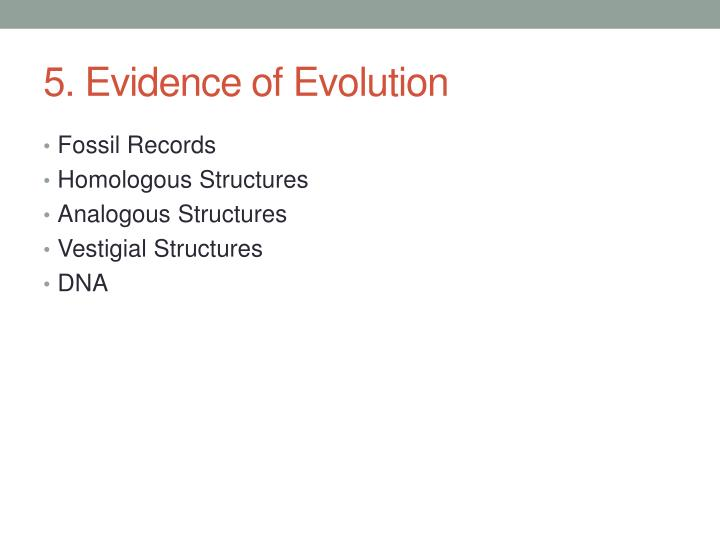 5. Evidence of Evolution