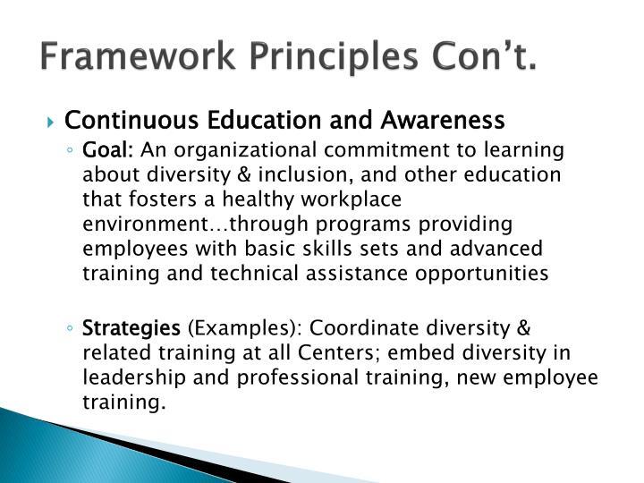 Framework Principles