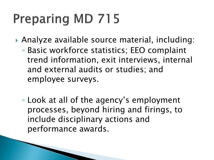 Preparing MD 715