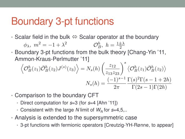 Boundary 3-pt functions