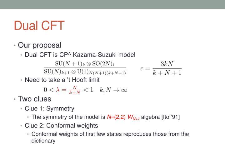 Dual CFT