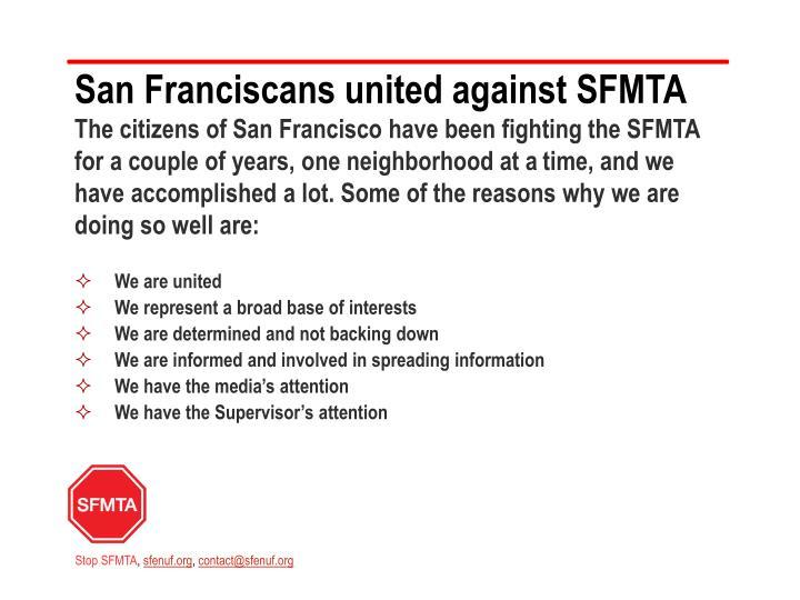 San Franciscans united against
